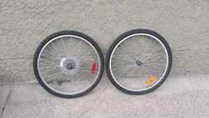 Two MOUNTAIN BIKE TIRES