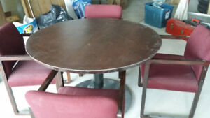 Round Table & 4 chair set