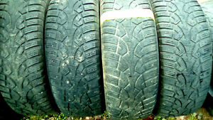 Sets and pairs of winter R15 tires 195, 185 215 175