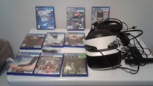 Playstation 4 VR Bundle with 8 games