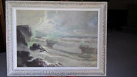 Listed Canadian artist seascape oil painting
