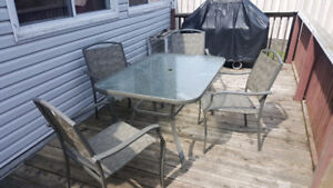 6 pc patio set - asking 80 or best offer