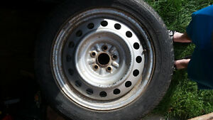 winter tires on rims Kingston Kingston Area image 2