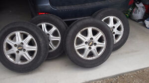 4 good tires with Alloy rims