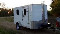 Enclosed 7x14 utility trailer/camper/hunting