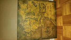LORD OF THE RINGS ,MAP OF THE MIDDLE EARTH.