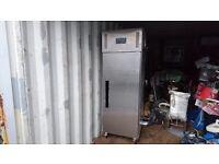Commercial fridge,fully functional,stainless steel,£500.00