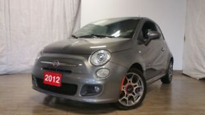 2012 Fiat 500 SPORT SUNROOF LEATHER ONLY 84KMS