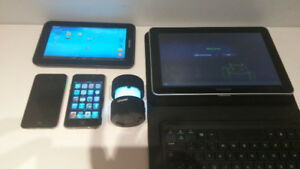2 x Tablets , 2 Ipods, Bluetooth Keyboard, Cover and BT Speaker