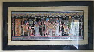 Authentic Egyptian Papyrus Framed Paintings from Egypt
