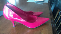 Red patent pumps from Spring. Size 9