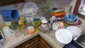 Glasses plates bowls