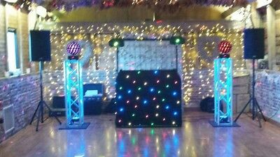complete mobile disco with fbt sound system and DJ booth and lights