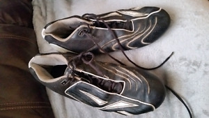 Football shoes cleats 2 prs plus new replacement cleats 14 & 15