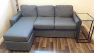 Brand New Apartment size Modern Grey Sectional/Sofa