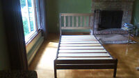 2 TWIN WOOD BED FRAMES