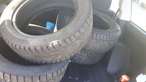 Set of four 205/55r16 winter tires for sale