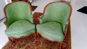 Fabulous Pair of Bergere Chairs