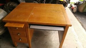 Antique wood desk