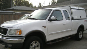 2003 FORD F150 4X4 WITH COMMERCIAL CANOPY - $4500