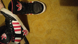 Pink and Black Womens Adidas