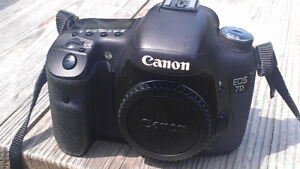 Canon 7D Body With Grip/Batteries/Charger - $550