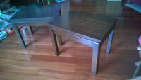 Two Hardwood End Tables
