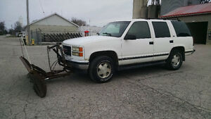 1996 Chevrolet Tahoe with snow plow
