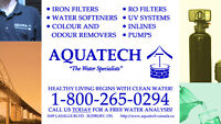 TAKE ADVANTAGE OF A *FREE* IN-HOME WATER ANALYSIS FROM AQUATECH!