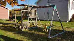 ADVENTURE PLAYSETS swing and slide park