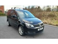 VW CADDY 1.6 CR20 TDI TRENDLINE 2014/14 REG MET JET BLACK £6490 NO VAT !!!