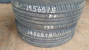 Pair of 2 Hifly HF201 195/65R15 tires (75% tread life)