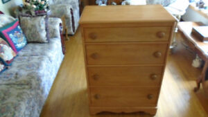 Furniture Solid Maple Dresser with four Drawers - $175