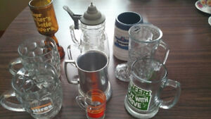 10 Assorted Collectible Beer Steins/Mugs