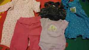 Box of girl baby clothing (0-3 months)