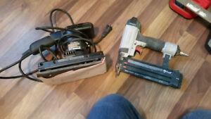 drills, sander,  hand tools, chargers