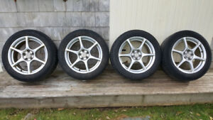 Alloy Rims with Michelin X Ice tires
