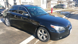 Blank on black 2007 BMW 525 xdrive 205km Automatic