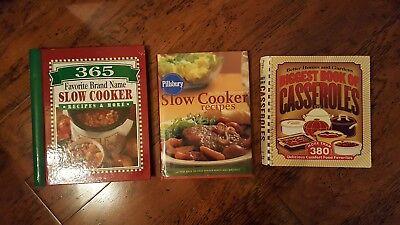 LOT of SLOW COOKER & CASSEROLE COOKBOOKS Pillsbury Better Homes Favorite