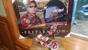 DALE EARNHARDT COLLECTOR PACKAGE. CAR SIGN AND TAP HANDLE