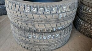 Pair of 2 Nitto SN2 245/65R17 WINTER tires (75% tread life)
