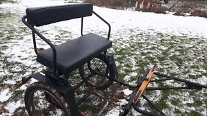 Brand new cart and harness for miniature horse