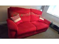 Red and Silver grey large 2 x 3 seaters