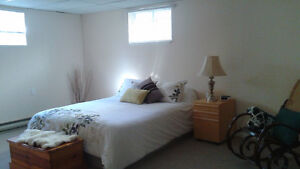 FURNISHED 1 BEDROOM BASEMENT APARTMENT IN THE KINGSWAY AREA