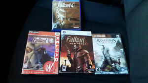 3 pc games and 1 ps4