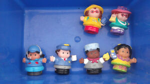FP LITTLE PEOPLE + COLLECTABLE VINTAGE PVC AND WINDUP FIGURES