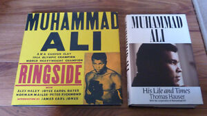 2 Muhammad Ali hardback coffee table books EUC