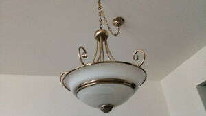 *** Lampe / Luminaire / Chandelier - Suspended glass lamp***