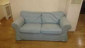 2x Ikea sofa green