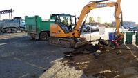 Excavator, Skidsteer, Dozer, and Dump Truck Services